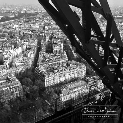 Looking Down from the Jules Verne, Eiffel Tower, Paris, France, Europe - by Diann Corbett Johnson