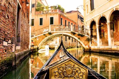 Travel: Gondola Ride on a Quiet Canal in Venice, Italy